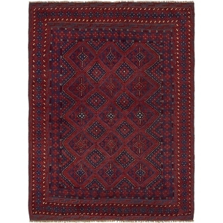 Hand Knotted Sumak Wool Area Rug - 4' 10 x 6' 5