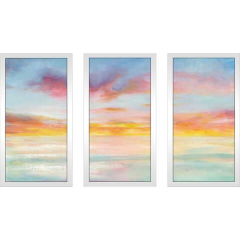 """Pastel Sky"" Framed Acrylic Wall Art Set - Blue"