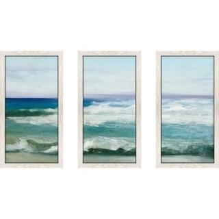 """Azure Ocean"" by Julia Purinton Framed Acrylic Wall Art Set - Blue"