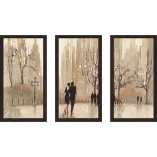"""""""An Evening Out Neutral"""" by Julia Purinton Framed Acrylic Wall Art Set - Brown"""