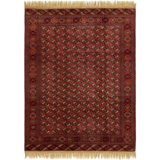 Hand Knotted Torkaman Wool Area Rug - 8' x 10' 10