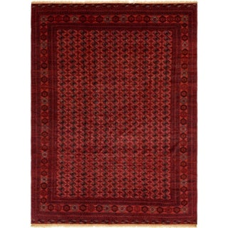 Hand Knotted Torkaman Wool Area Rug - 9' 3 x 12' 10