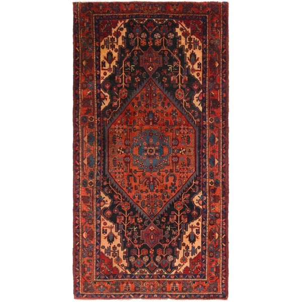 Hand Knotted Tuiserkan Semi Antique Wool Area Rug - 5' 6 x 10' 5