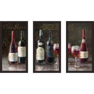 """Bistro Reds v.2 Crop"" Framed Acrylic Wall Art Set - Brown"