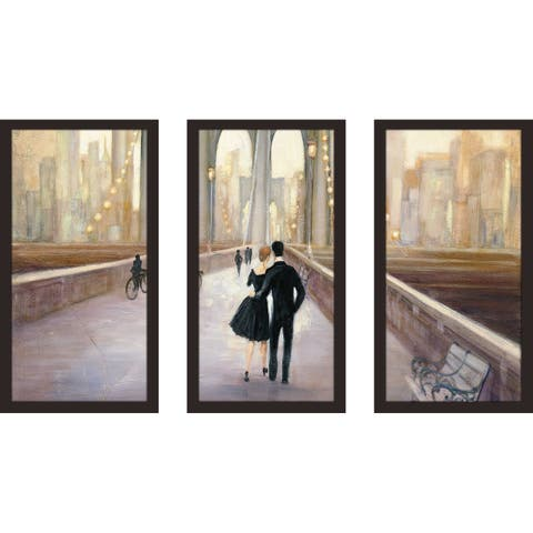 """Bridge to NY IV"" by Julia Purinton Framed Acrylic Wall Art Set - Brown"