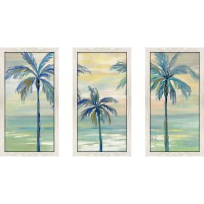 """""""Marine Layer Palms"""" by Silvia Vassileva Framed Acrylic Wall Art Set - Green"""
