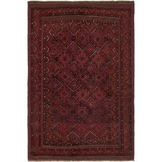Hand Knotted Sumak Wool Area Rug - 4' 2 x 6' 5