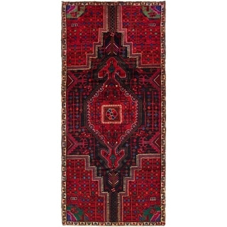 Hand Knotted Tuiserkan Semi Antique Wool Runner Rug - 3' 8 x 8' 7