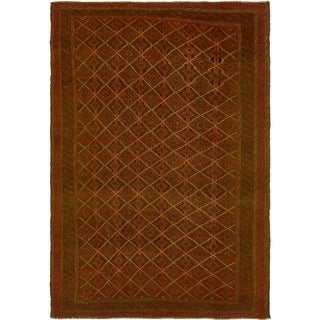 Hand Knotted Sumak Wool Area Rug - 6' 6 x 9' 5