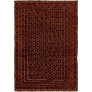 Hand Knotted Sumak Wool Area Rug - 6' 4 x 9'
