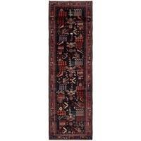 Hand Knotted Tafresh Semi Antique Wool Runner Rug - 3' 6 x 11' 2