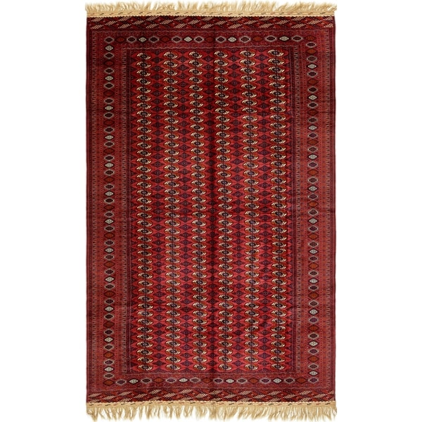 Hand Knotted Torkaman Wool Area Rug - 9' 10 x 16' 6