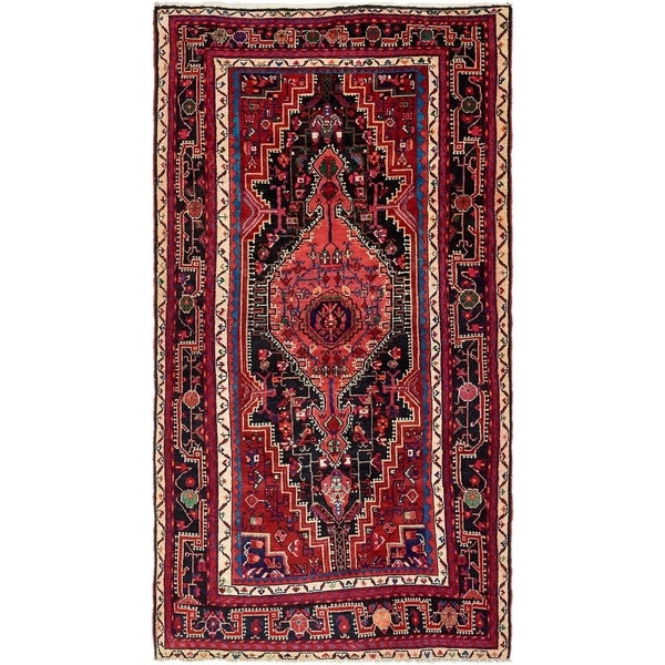 Hand Knotted Tuiserkan Semi Antique Wool Area Rug - 5' 2 x 9' 7