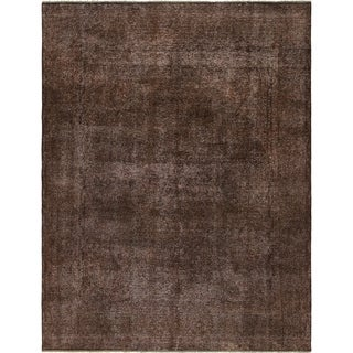 Hand Knotted Ultra Vintage Antique Wool Area Rug - 9' 7 x 12' 5