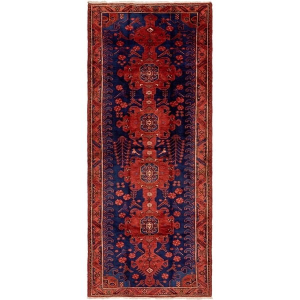 Hand Knotted Tafresh Semi Antique Wool Runner Rug - 5' 2 x 12' 8