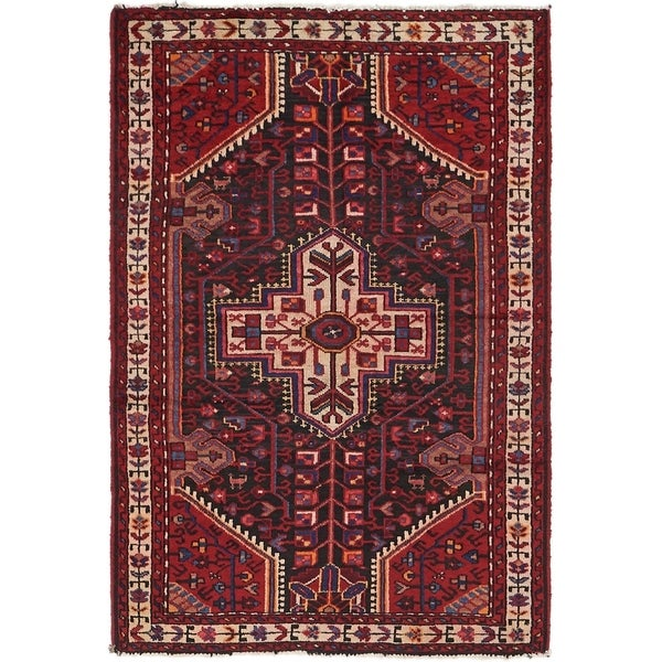 Hand Knotted Tuiserkan Semi Antique Wool Area Rug - 3' 5 x 5'