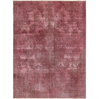 Hand Knotted Ultra Vintage Antique Wool Area Rug - 7' 5 x 10' 3