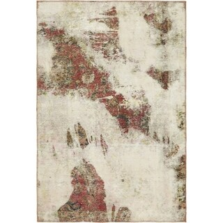 Hand Knotted Ultra Vintage Antique Wool Area Rug - 4' 3 x 6' 4