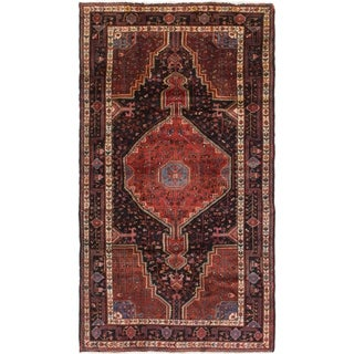Hand Knotted Tuiserkan Semi Antique Wool Area Rug - 5' 2 x 9' 4