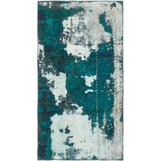 Hand Knotted Ultra Vintage Wool Area Rug - 2' 8 x 4' 10
