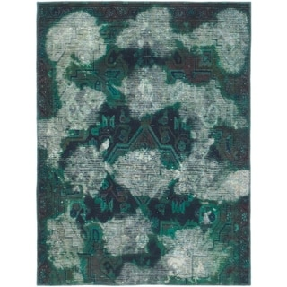 Hand Knotted Ultra Vintage Wool Area Rug - 4' x 5' 4