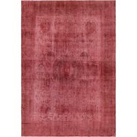 Hand Knotted Ultra Vintage Antique Wool Area Rug - 9' 3 x 13' 8