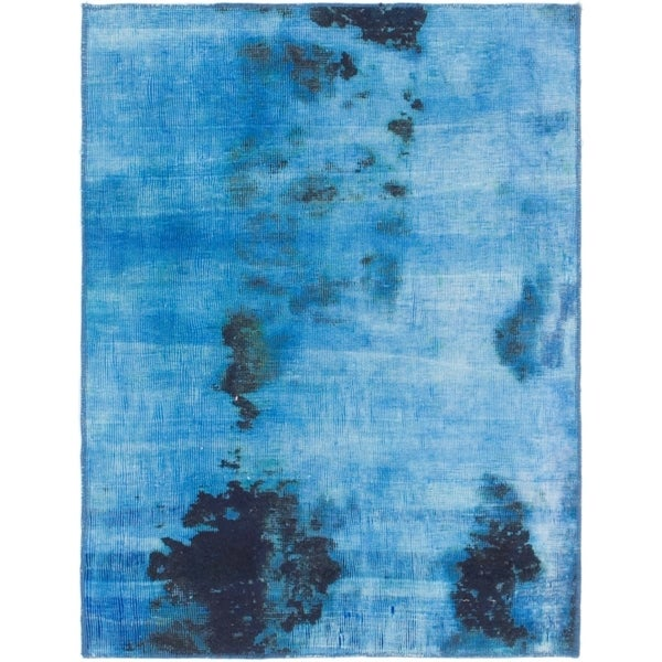 Hand Knotted Ultra Vintage Wool Area Rug - 2' 8 x 3' 6