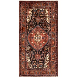 Hand Knotted Tuiserkan Semi Antique Wool Area Rug - 5' 4 x 10' 3