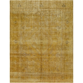 Hand Knotted Ultra Vintage Antique Wool Area Rug - 9' 6 x 12' 3