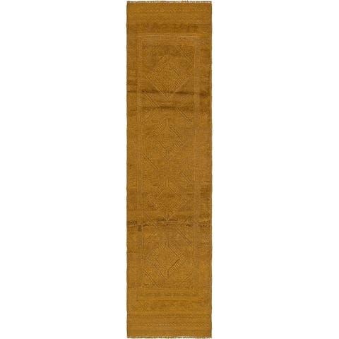 Hand Knotted Sumak Wool Runner Rug - 2' x 8' 7