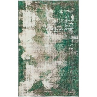 Hand Knotted Ultra Vintage Wool Area Rug - 4' x 6' 3