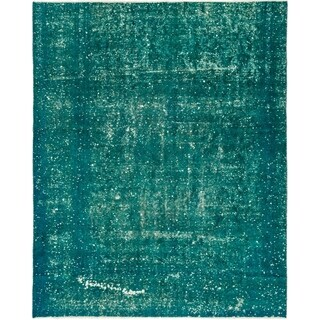 Hand Knotted Ultra Vintage Antique Wool Area Rug - 7' 7 x 9' 5