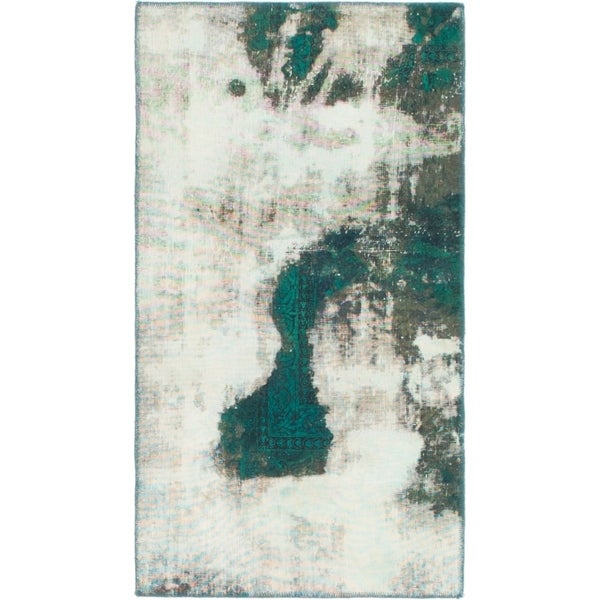 Hand Knotted Ultra Vintage Antique Wool Area Rug - 2' 4 x 4' 5
