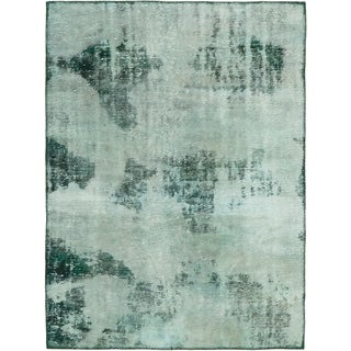 Hand Knotted Ultra Vintage Antique Wool Area Rug - 3' 8 x 5'