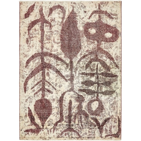 Hand Knotted Ultra Vintage Antique Wool Area Rug - 4' 6 x 6' 3