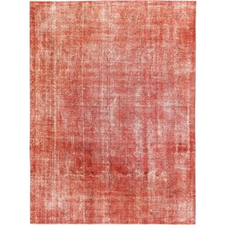 Hand Knotted Ultra Vintage Wool Area Rug - 9' 2 x 12' 3
