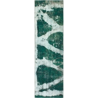 Hand Knotted Ultra Vintage Wool Runner Rug - 3' x 10' 2