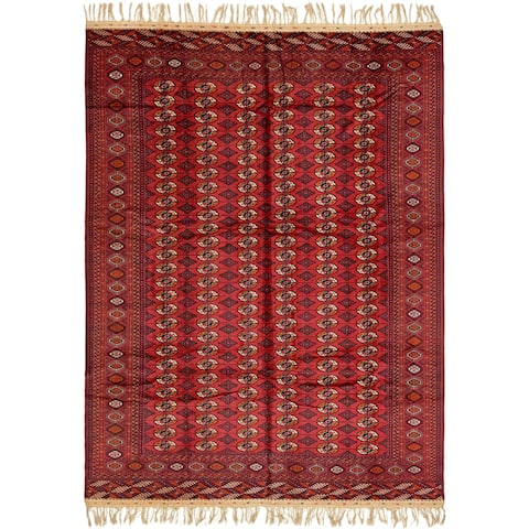 Hand Knotted Torkaman Wool Area Rug - 10' x 13' 10