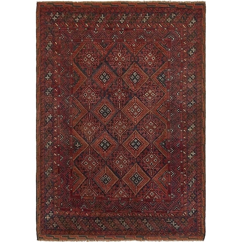 Hand Knotted Sumak Wool Area Rug - 4' 6 x 6' 3