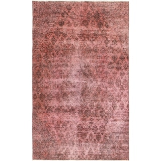 Hand Knotted Ultra Vintage Antique Wool Area Rug - 5' 9 x 9' 9