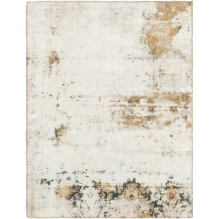Hand Knotted Ultra Vintage Wool Area Rug - 3' 8 x 4' 10