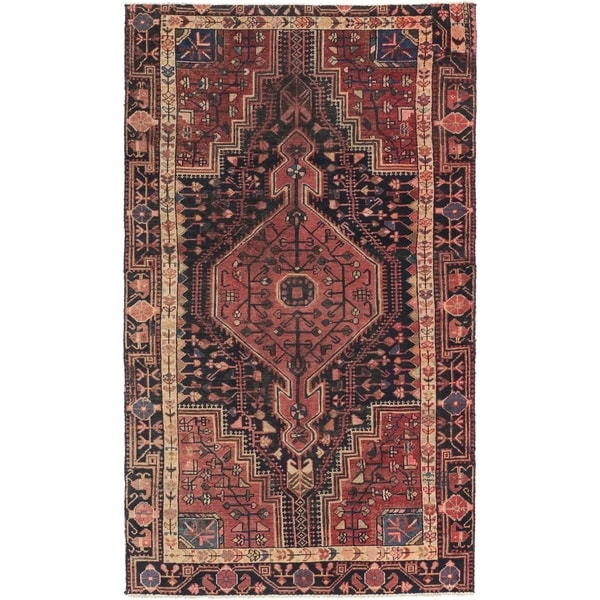 Hand Knotted Tuiserkan Semi Antique Wool Area Rug - 4' x 7'