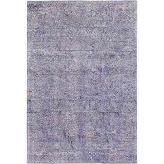 Hand Knotted Ultra Vintage Wool Area Rug - 7' 2 x 10' 5