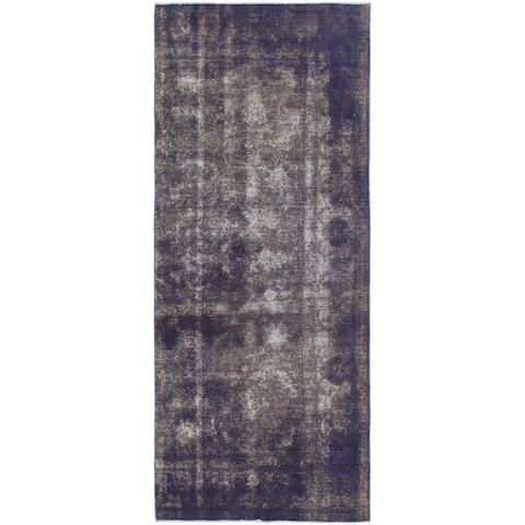 Hand Knotted Ultra Vintage Wool Runner Rug - 4' 6 x 11'