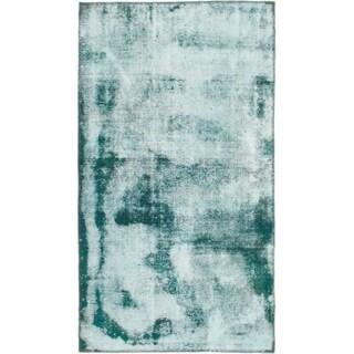 Hand Knotted Ultra Vintage Wool Area Rug - 3' 3 x 5' 8