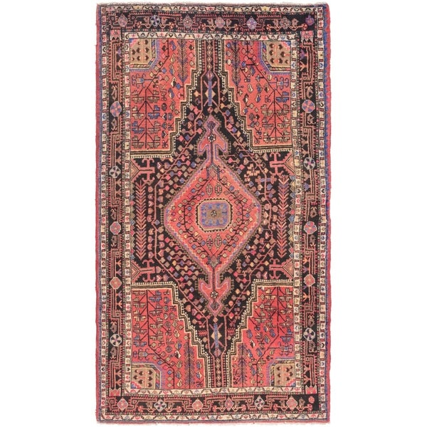 Hand Knotted Tuiserkan Semi Antique Wool Area Rug - 5' x 9'