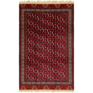 Hand Knotted Torkaman Wool Area Rug - 7' 9 x 12' 7