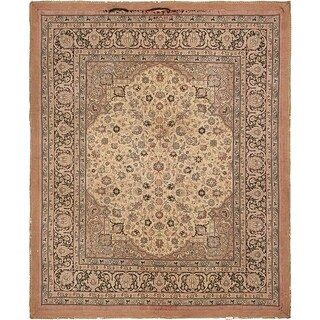 Hand Knotted Tapestry Antique Wool Square Rug - 9' x 9'