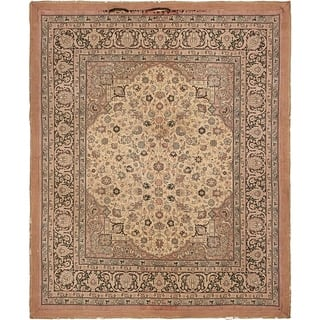 Hand Knotted Tapestry Antique Wool Square Rug 9 X