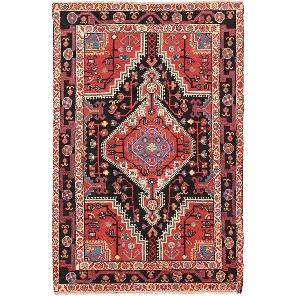 Hand Knotted Tuiserkan Wool Area Rug - 3' 9 x 5' 9